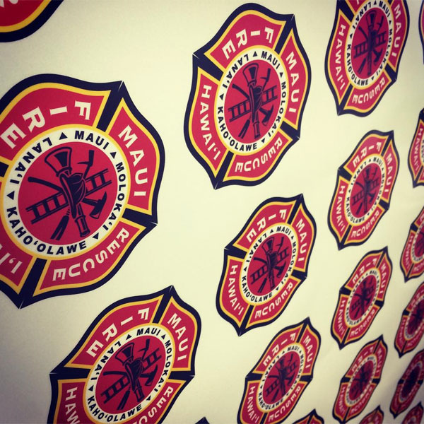 maui fire department vinyl decals