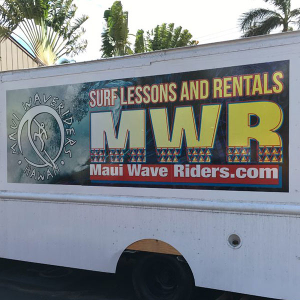 maui wave riders vinyl decals