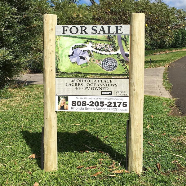 real estate custom wood sign