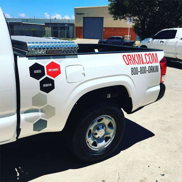 orkin car decal