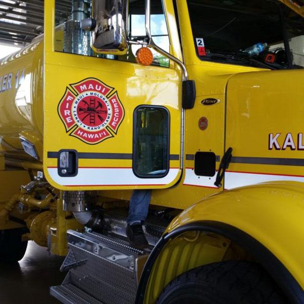 maui fire department car decals