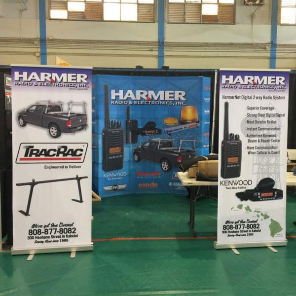 harmer trade show banners