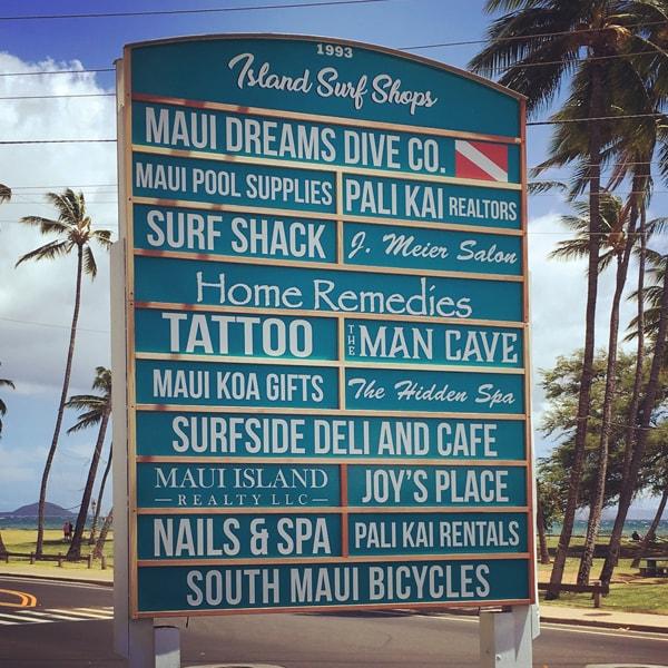 island surf sign