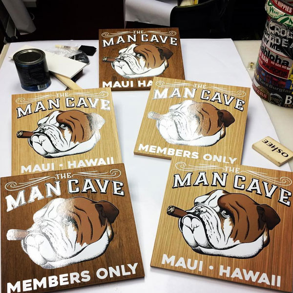 man cave custom wood sign